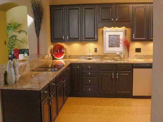 Best wall paint colors ideas for kitchen for Dark brown kitchen ideas