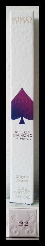 Kiko - Daring Game - Ace of Diamond Lip Pencil n° 32 - Dainty Oleander Rose