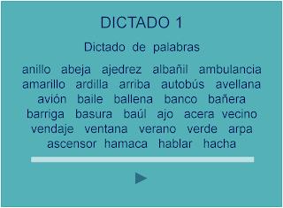 APRENDER ES DIVERTIDO 1º Y 2º: Dictados de palabras