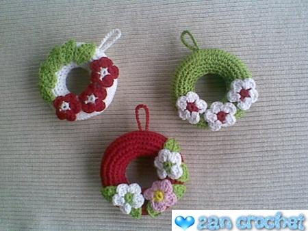 Amigurumi Christmas Wreath Ornament Zan Crochet