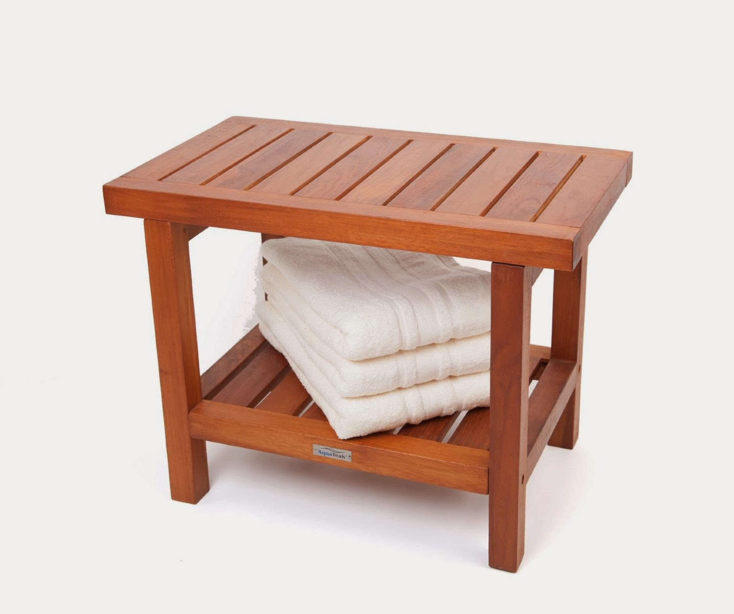 Great Ideas | Teak shower bench, Solid Bath chair ...
