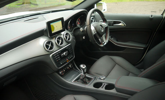 Mercedes-Benz GLA-Class 200 CDI AMG Line front interior