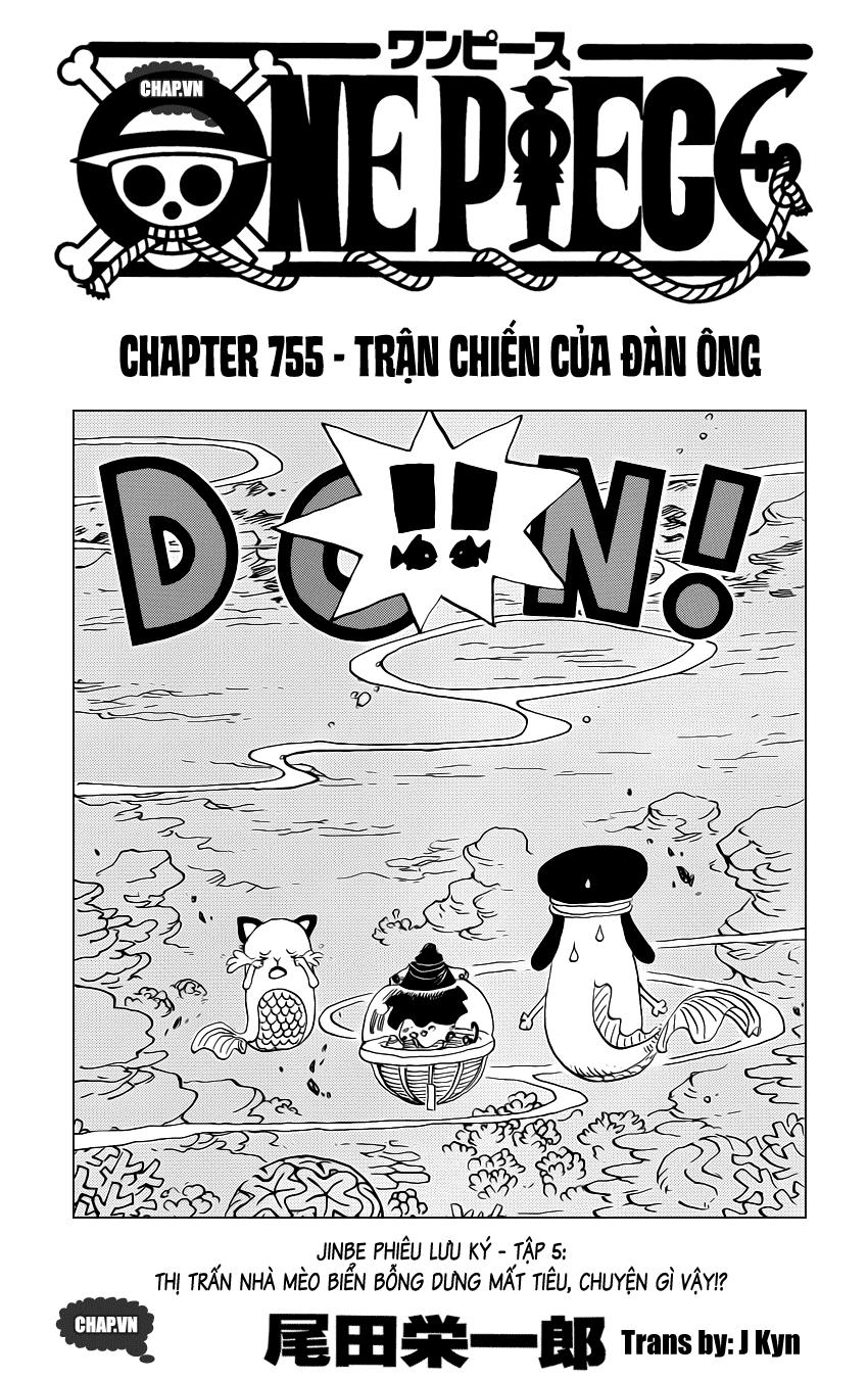 One Piece Chapter 755: Trận chiến của đàn ông 001
