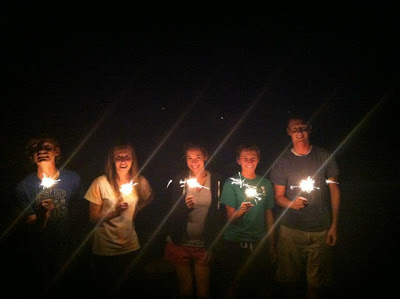 sparklers @ everything's hanging on this moment