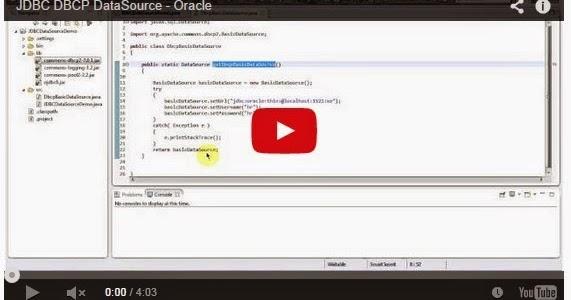 Java ee jdbc dbcp datasource oracle for Pool design pattern java