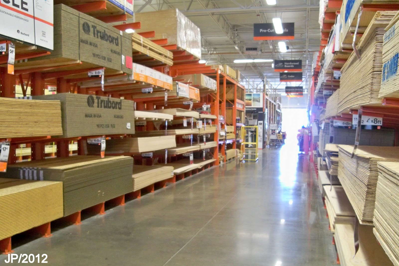 home depot flooring department