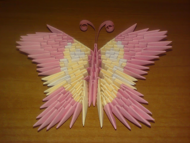 origami butterfly 3d