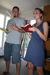 Joey teaches with Raya to translate