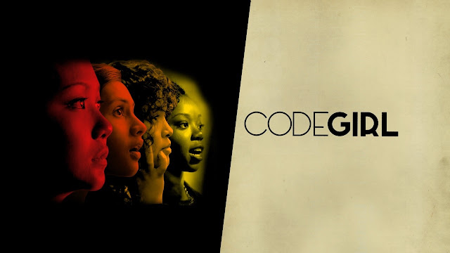 "An image of four young women next to the ""CODEGIRL"" film title."