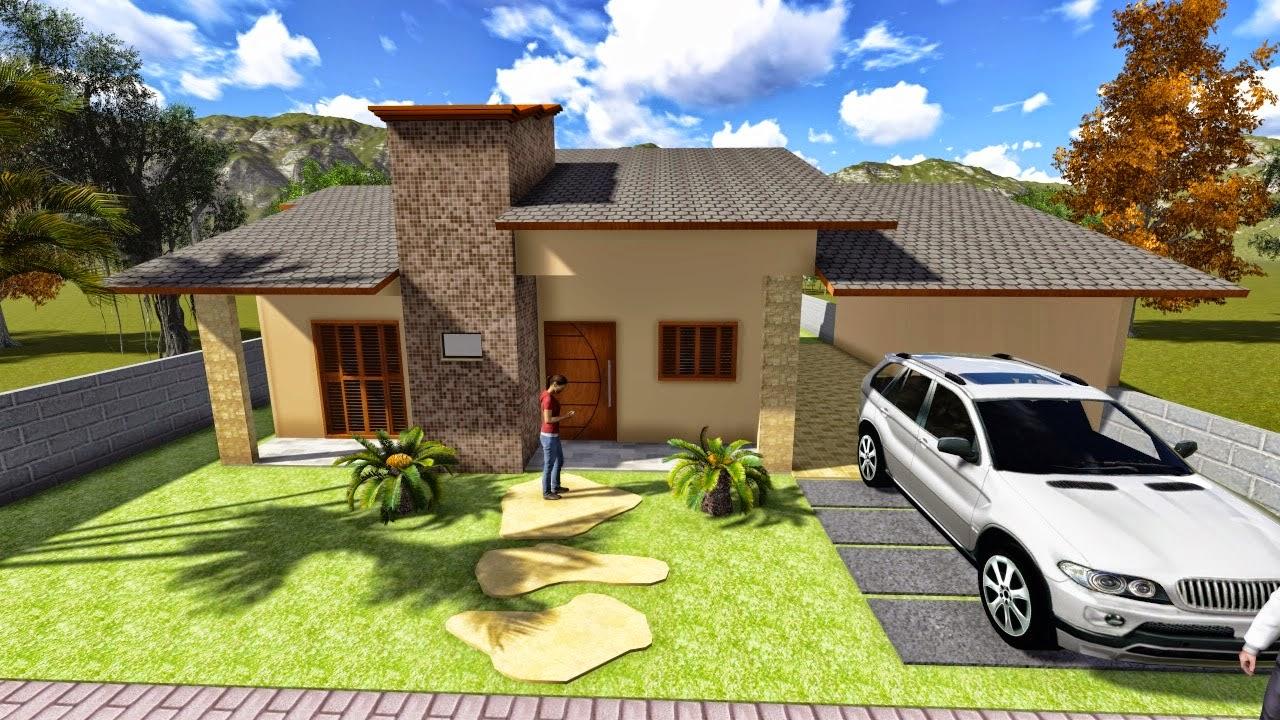 Projetos de casas modernas com 3 quartos for Casas modernas baratas