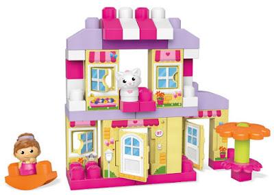 TOYS : JUGUETES - MEGA BLOKS : First Builders  Acogedora Casita de Campo | Cozy Cottage  2015 | Mattel CNG26 | Piezas: 41 | Edad: 1-5 años   Comprar en Amazon España & buy Amazon USA
