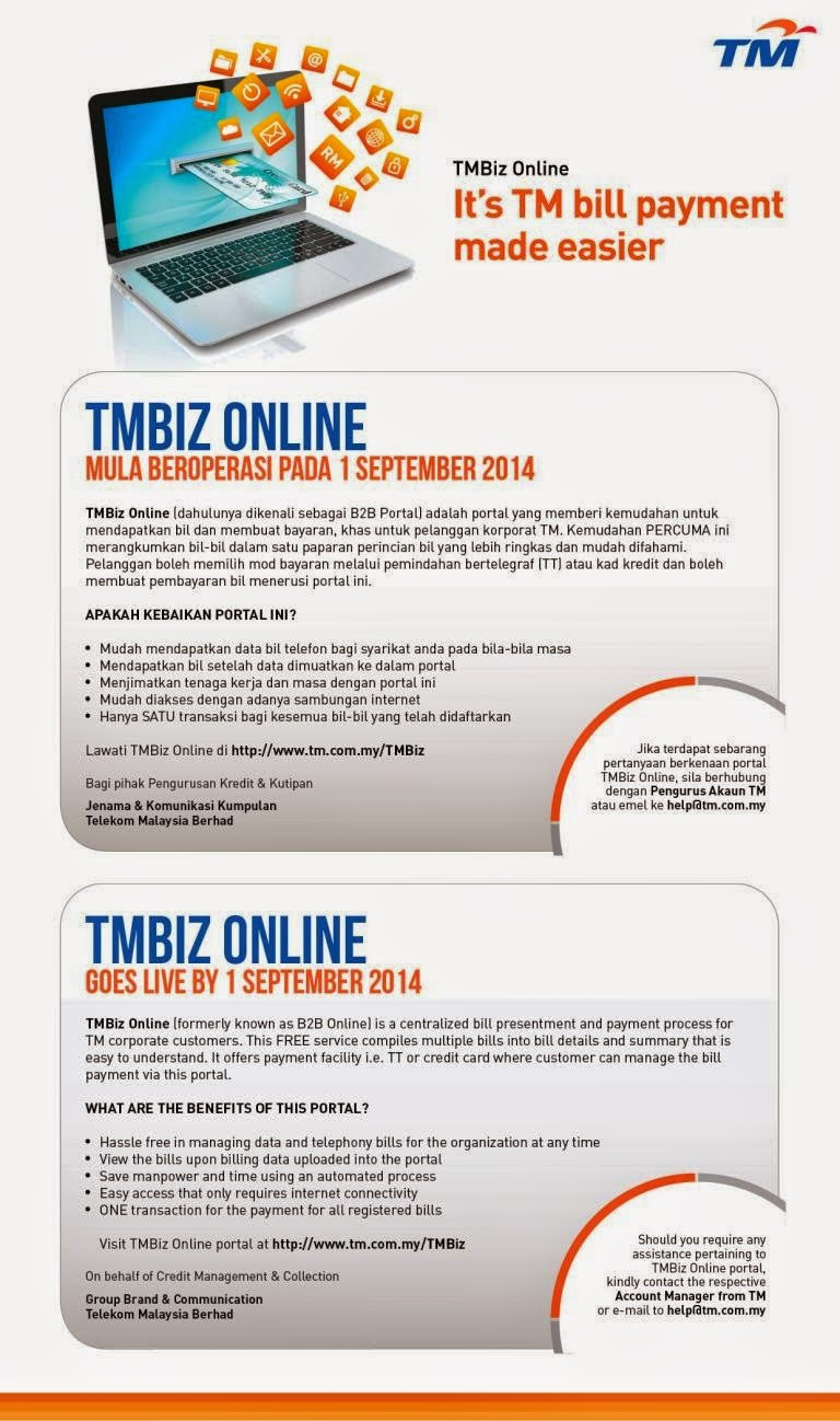 TMBiz Online Goes Live By 1 September 2014