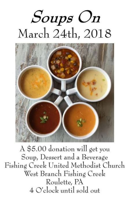 3-24 Soups On Fishing Creek Methodist Church