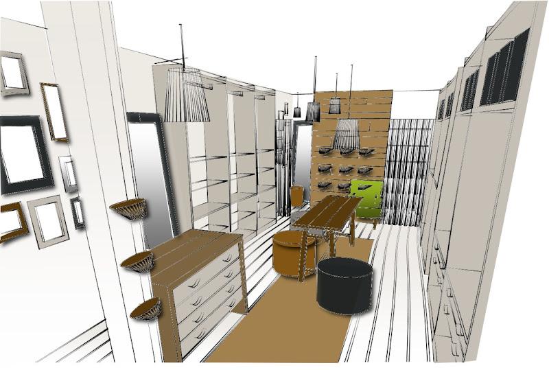 Retail Store Interior Design Sketch
