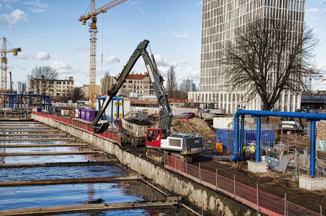 Baustelle Neubau der S-Bahn Verbindung Berlin Hbf - Nordring, 10557 Berlin, Heidestraße, S21, 06.02.2014