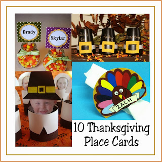 10 Thanksgiving Place Cards gathered by Kims Kandy Kreations