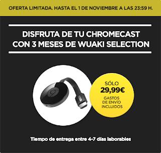 Promoción Chromecast 2 con Wuaki