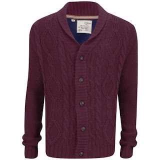 Brave Soul Men's Shawl Neck Cardigan - Bordeaux 14,09 €