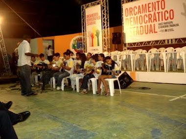 """Alunos do Ponto de Cultura """"Portadores de Eficiência de Cuité"""" fizeram belíssima apresentação no OD"""