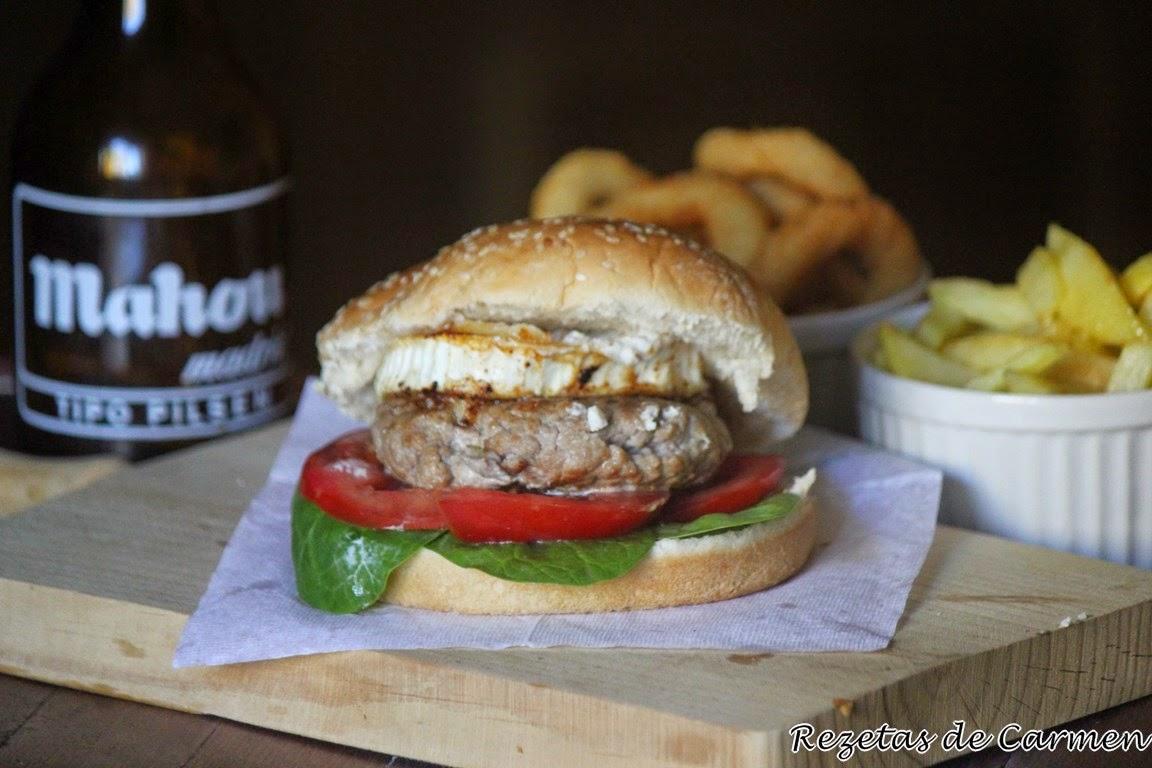 rezetas de carmen: Hamburguesa de cordero con queso de cabra