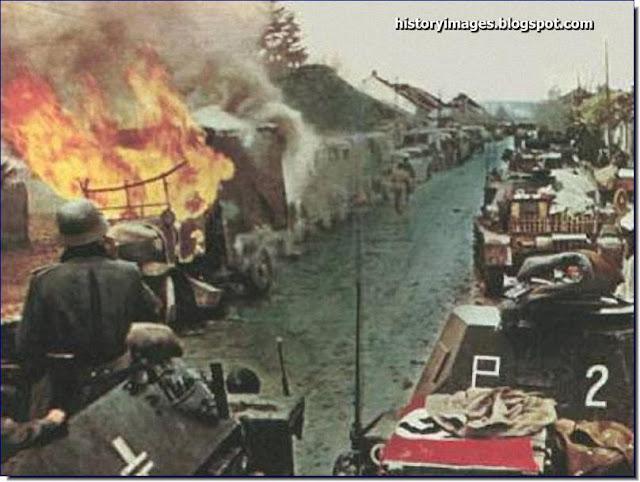 German tanks Serbian city Nis Spring 1941