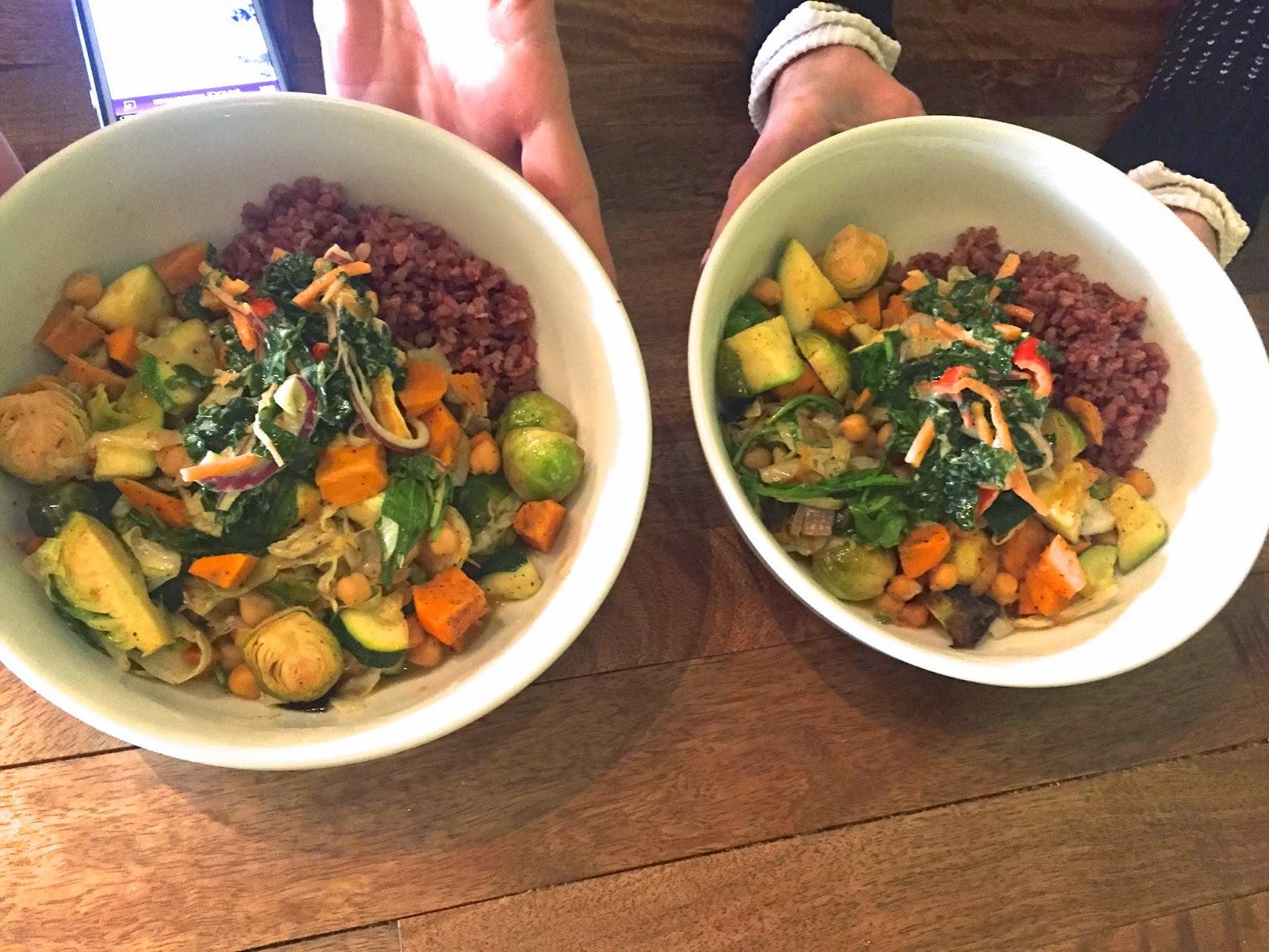 Vegetable Bowls Vegetarian Fern Restaurant