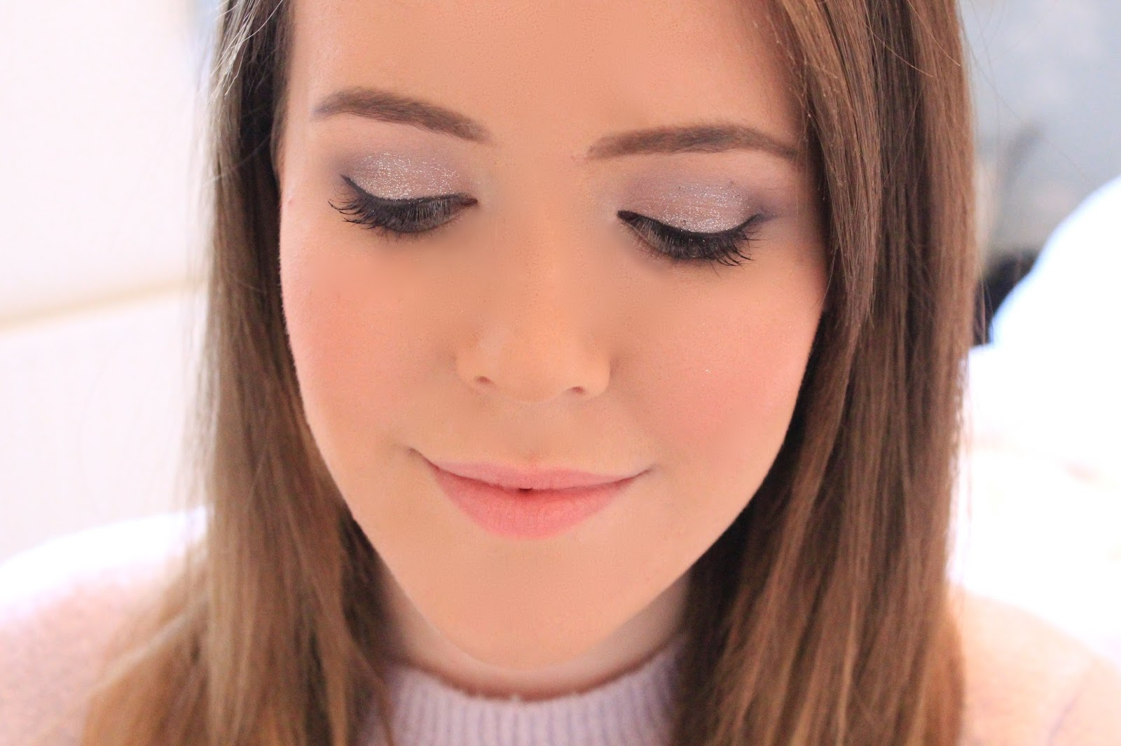 purple eyeshadow tutorial, dior petal shine, iced lavender eyes, glittery purple eyeshadow