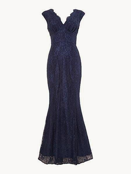 Ariella Lace Fishtail Dress - Affordable Blue Wedding Dresses