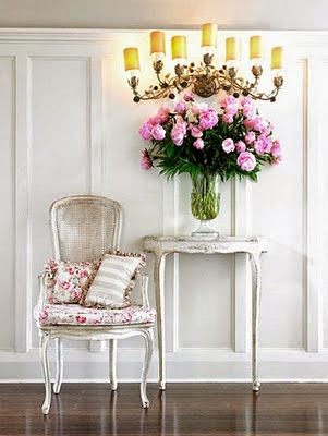 romantic rose floral print cushions with a big rose bouquet