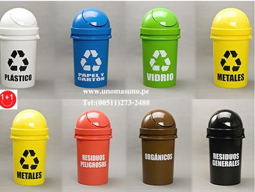 Colores que se deben emplear para el reciclaje de basura - Contenedores de reciclar ...