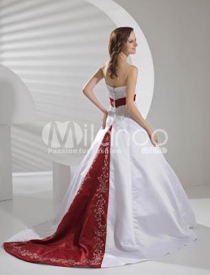 A-ligne bretelles taille empire perles Sash broderie satin robe de mariée Pongé