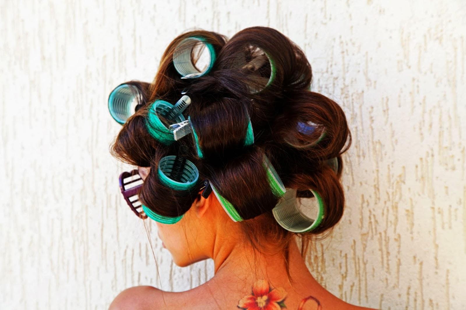 Причёски с папильотками для волос