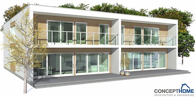 Ch159d Modern Duplex House Plan Duplex House Plans
