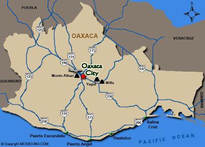 Mapa de Ciudad de Oaxaca Político Región