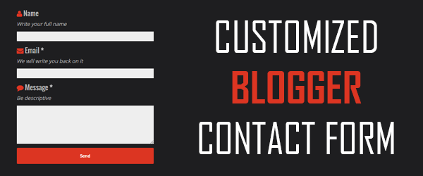 Customize Blogger contact form to better level