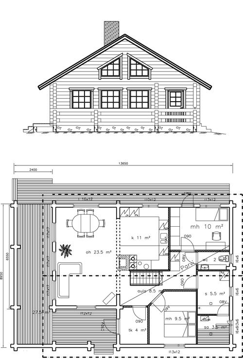 Viviendas unifamiliares arquitectura y construccion plano vivienda 109 m2 - Casas unifamiliares planos ...