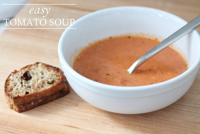 easy tomato soup recipe | you'll never make soup from a can again!