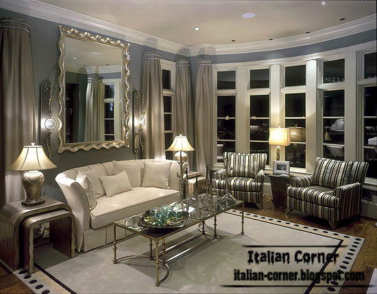 Attirant Italian Classic Living Room Design With Largs Windows
