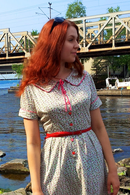 50s vintage paisley summer dress