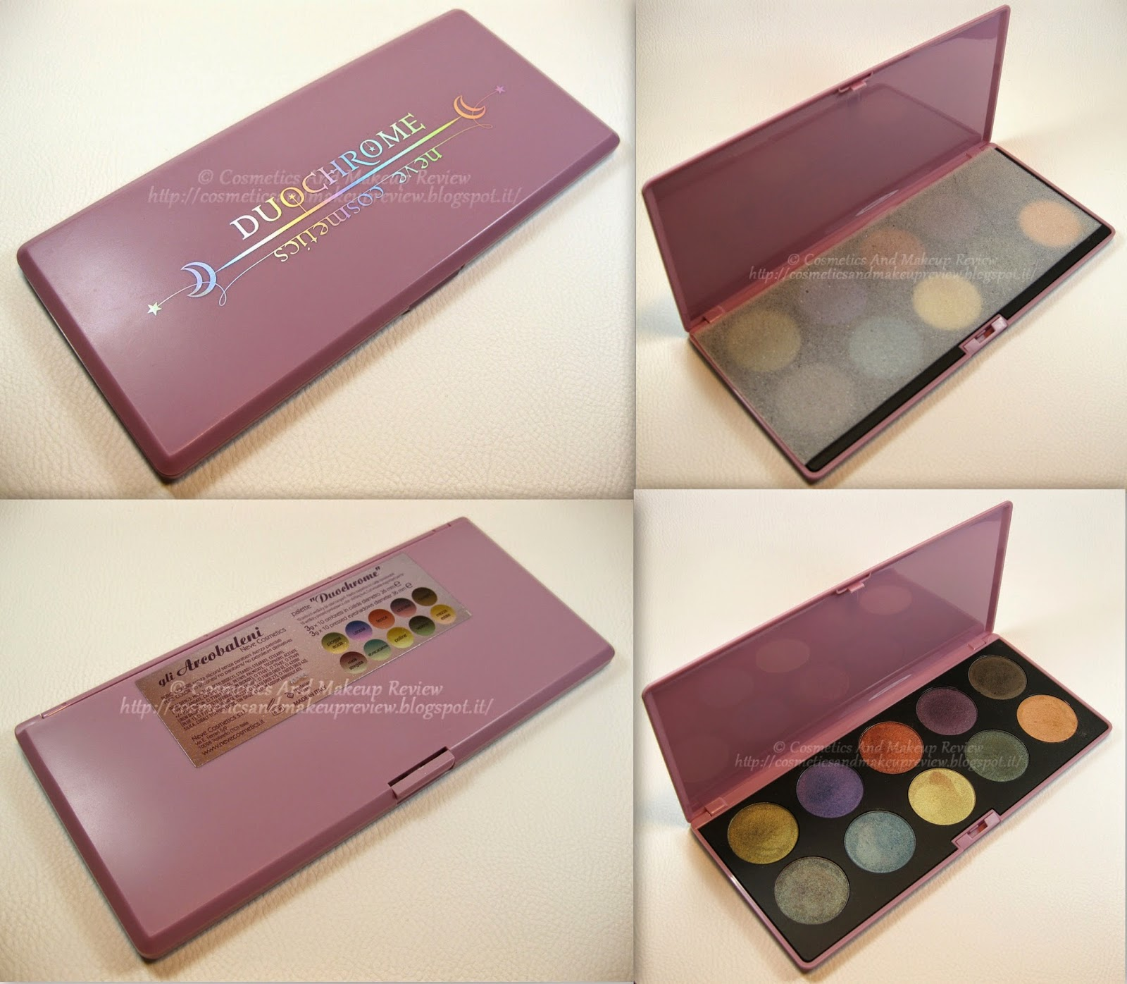 Neve Cosmetics - Palette Duochrome (2014) - packaging completo