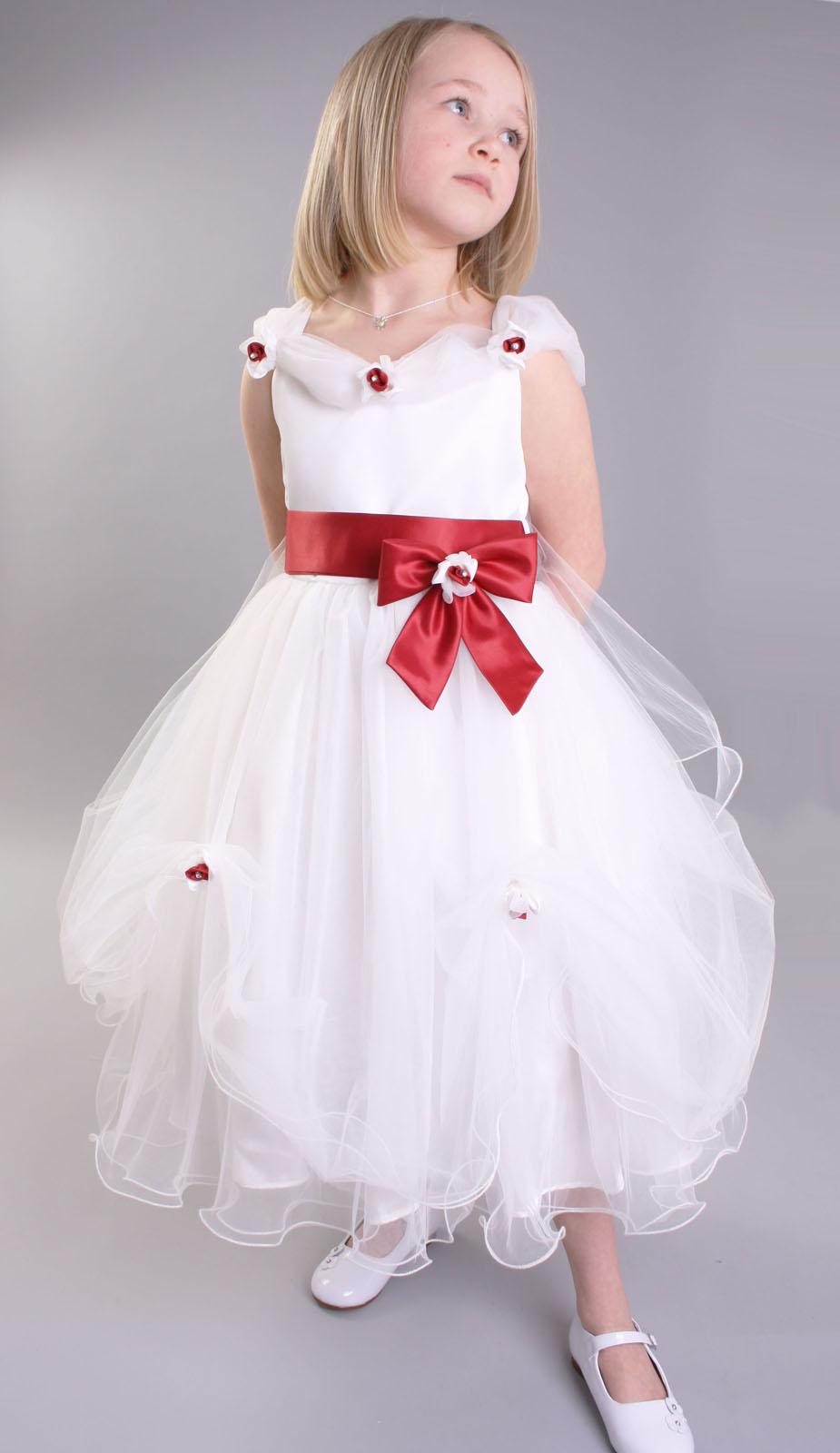 Id et photo d coration mariage petite robe blanche robe blanche pour filles robe fille - Robe de petite fille pour mariage ...