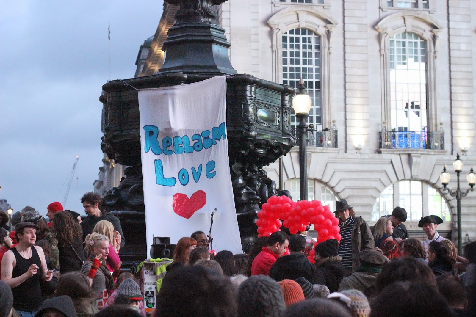 Reclaim Love in Picadilly Circus - Photograph by Art Style Love