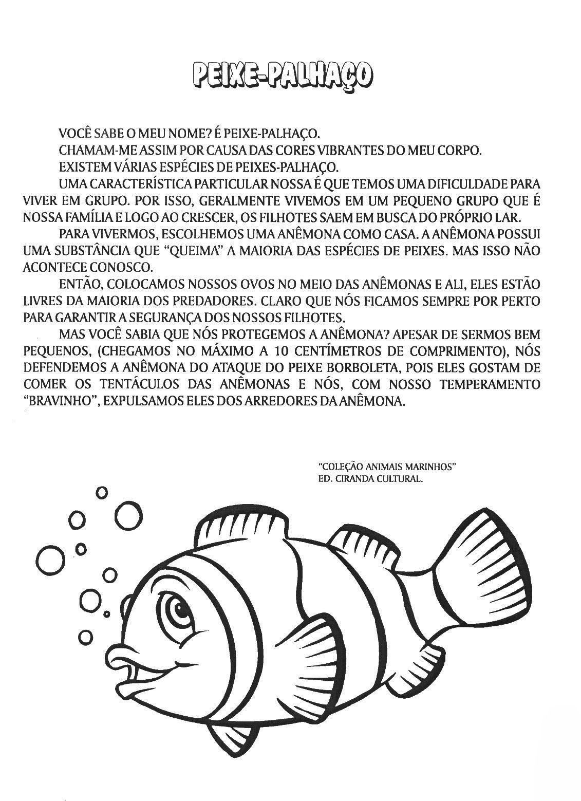 Preferência Entre o Giz e a Lousa: Projetos Animais Marinhos- Ler e Escrever PR23