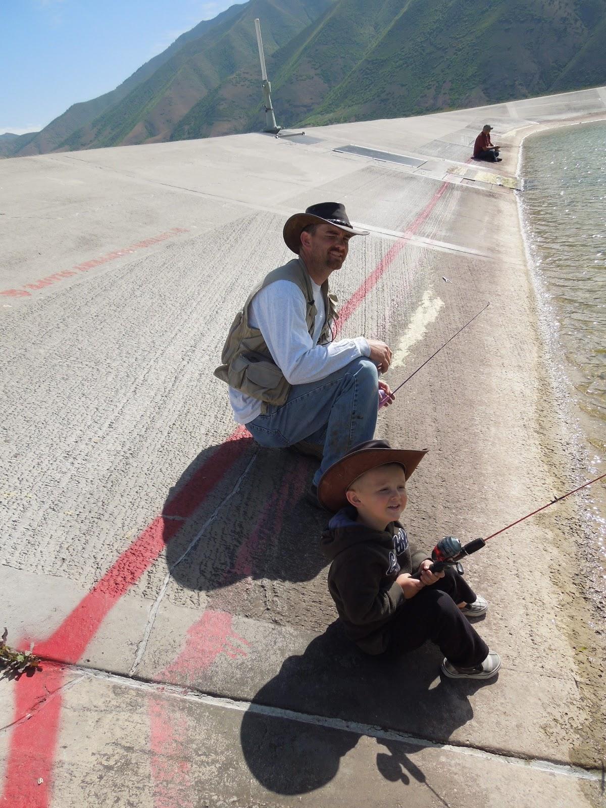 Laing family happenings spanish fork reservoir for Fishing rod in spanish