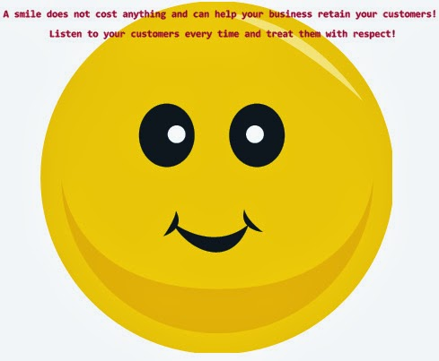 "Alpha Advertising: ""A smile does not cost anything and can help your business retain your customers!"""