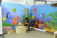 Artystyczne malarstwo ścienne, aranzacja ściany w pokoju dziecięcym, Bydgoszcz