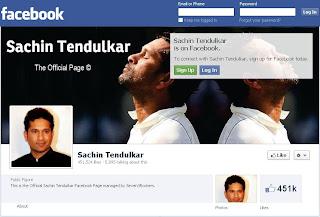 Sachin+Tendulkar+Facebook+Page