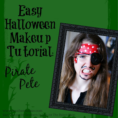 Pirate Pete Easy Pirate Halloween Makeup Tutorial