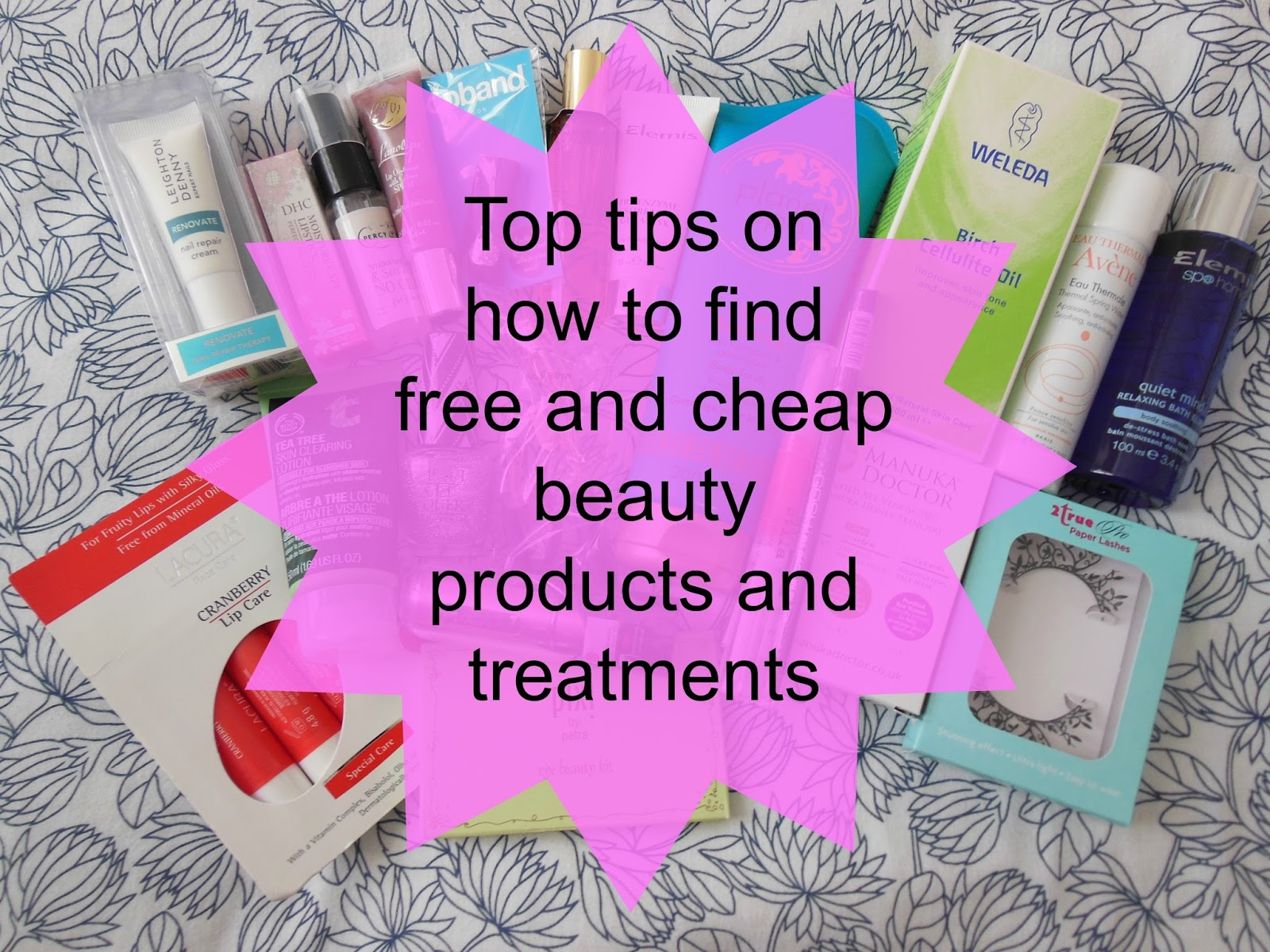 free and cheap beauty products and treatments