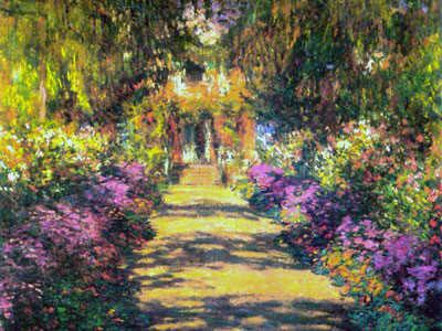 Le retour chez canelle claude monet for Jardines de monet